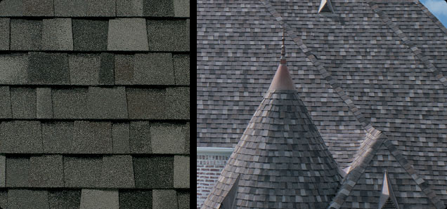 Charcoal Gray Roof Shingles
