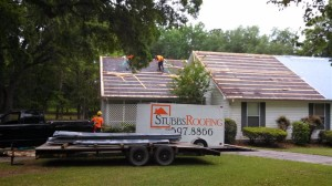 Removal of old metal roof system.