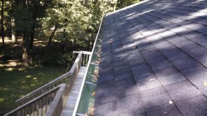 Seamless gutter system installed