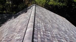 Ridge vent installed.