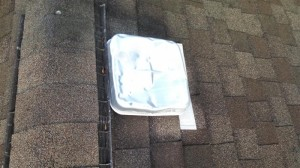 Damaged roof vent