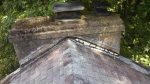 Chimney flashing before