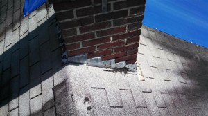 Old chimney flashing