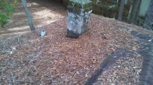 Brick chimney no longer in use (removed)