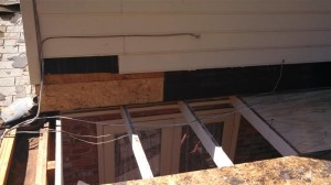 Siding and decking repairs.