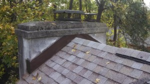 Chimney flashing afer