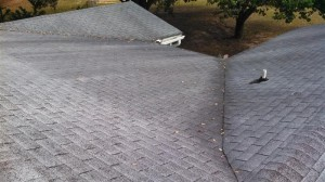 Roof valley before
