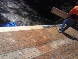 Removing rotten decking