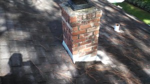Another look at the old shingles and chimney flashings
