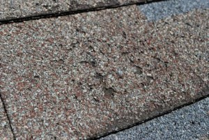 Defective shingles